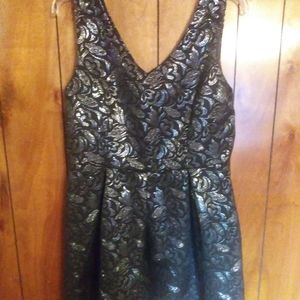 One Clothing dress silver floral knee length